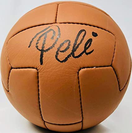 Pele Autographed Vintage Soccer Ball Brazil Signed - ITP COA - PSA DNA  Certified - Autographed Soccer Balls at Amazon s Sports Collectibles Store 9a3e6d4e8