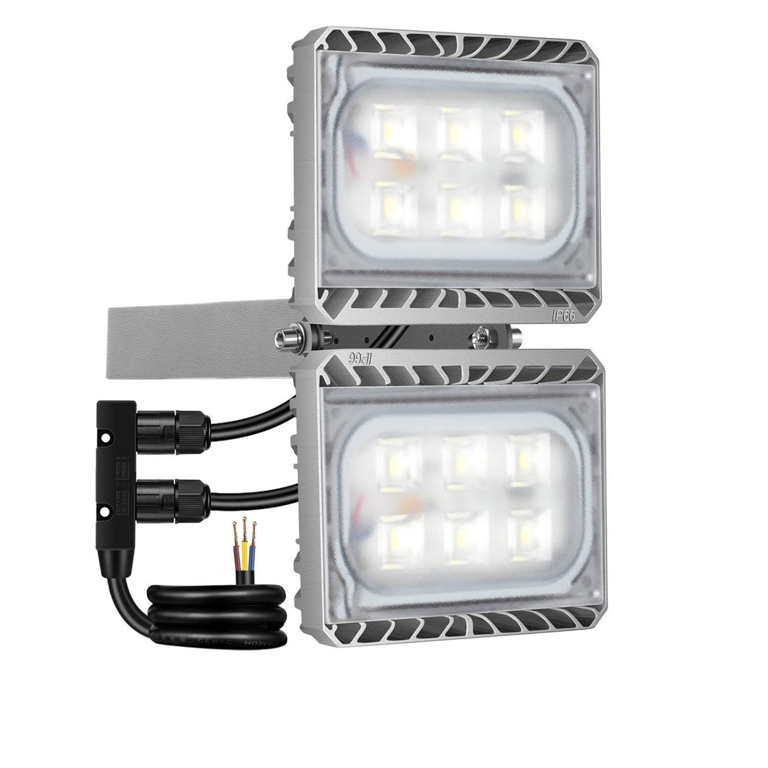 60W LED Flood Light, STASUN 5400lm LED Security Lights Outdoor with Wide Lighting Area, 6000K Daylight, Built with Cree LED Chips, Waterproof, Great for Entryways, Yard, Garage
