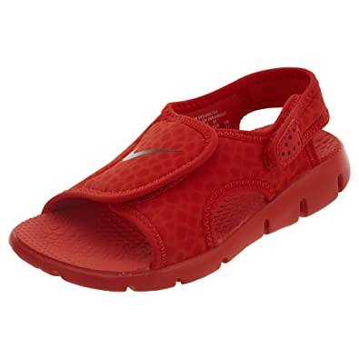 hot sales 778e5 4be37 Nike Boys  Sunray Adjust 4 Sandals Habanero Red Gym Red 5Y