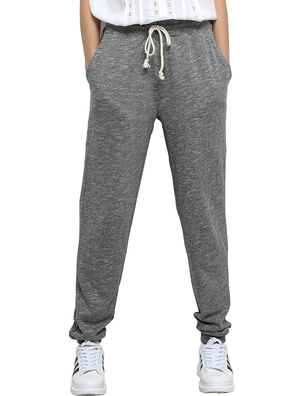 T-INSIDE Sweatpants With Pockets Women's Leisure Gray Joggers Pants (M)
