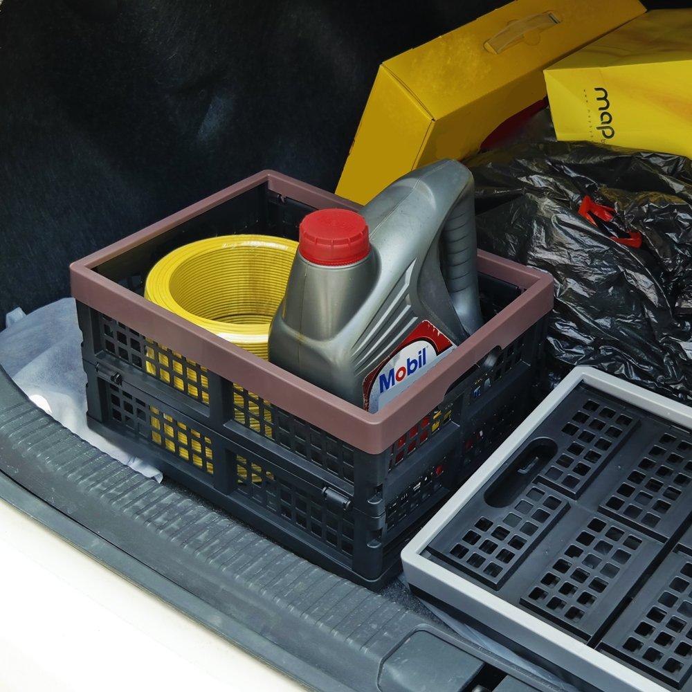 2 Unidades Cadine Cajas de Almacenamiento Plegables de Pl/ástico