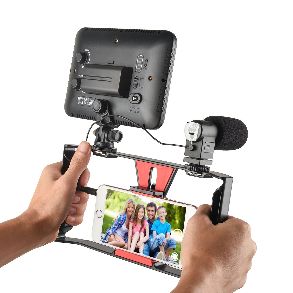 Ulanzi Smartphone Video Stabilizer Phone Movies &FilmmakerRig Handle Grip for Apple IPhone 5, 5C, 5S, 6, 6S, 7 (Regular and Plus), Samsung,HTC, Huawei, Google, Android Smartphones..
