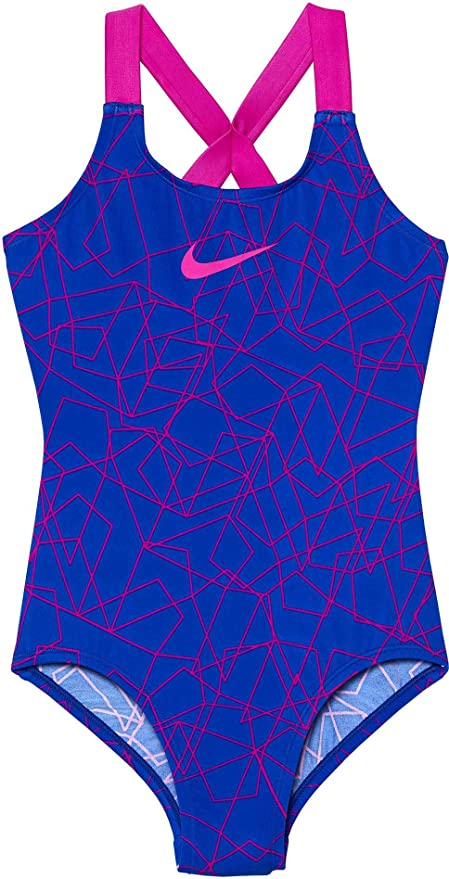 e591505e155ae Nike Girl's Nova Flare Prism Crossback Swimsuit