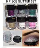 Beauty Treats Cosmetics Eye Shadow Color Makeup Pro Glitter Eyeshadow Palette 6 Colors