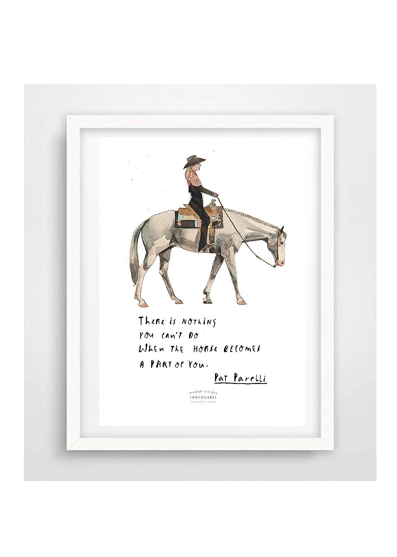 Poster Artprint KartePat Parelli Din A5 Druck Illustration Poster Freiheitsdressur Reiten Deko Dressur Pferd horsemanship