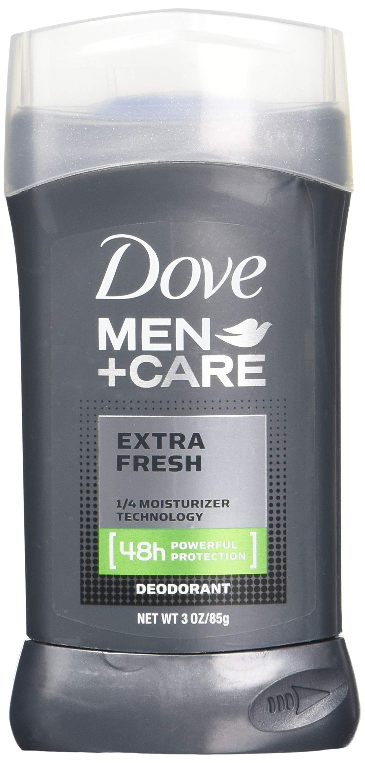 Dove Men+Care Deodorant Stick, Extra Fresh, 3 Ounce (Pack of 3)