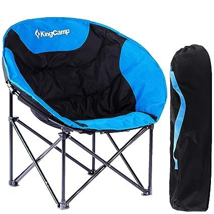 KingCamp Moon Chair de Easy Up hasta 120 kg Camping Silla de
