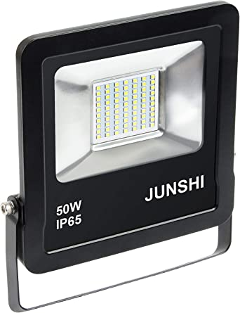 JUNSHI 50W Foco Proyector Exteriores LED, 4000LM, 6500k Blanco ...