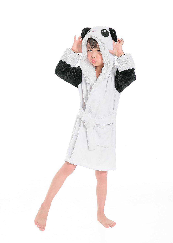 Etitek Kids Unicorn Bathrobe Sleepwear Pajama Soft Fleece Unisex Hooded  Push Robe 840be01fc