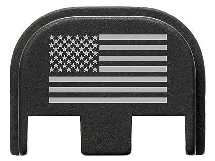 for Glock Gen 5 Back Plate 9mm 17 19 19x 26 34 Black NDZ US Flag