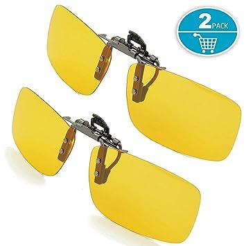 Splaks Clip en Gafas de Sol, 2 Amarillo, polarizadas, sin montura, lentes