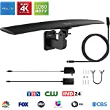 ANTAN Outdoor Antenna with for Attic Roof Outdoor RV Use with 33FT RG6 Coax Cable- 70-85 Miles Range -Support 8K 4K 1080P UHF VHF Freeview HDTV Channels