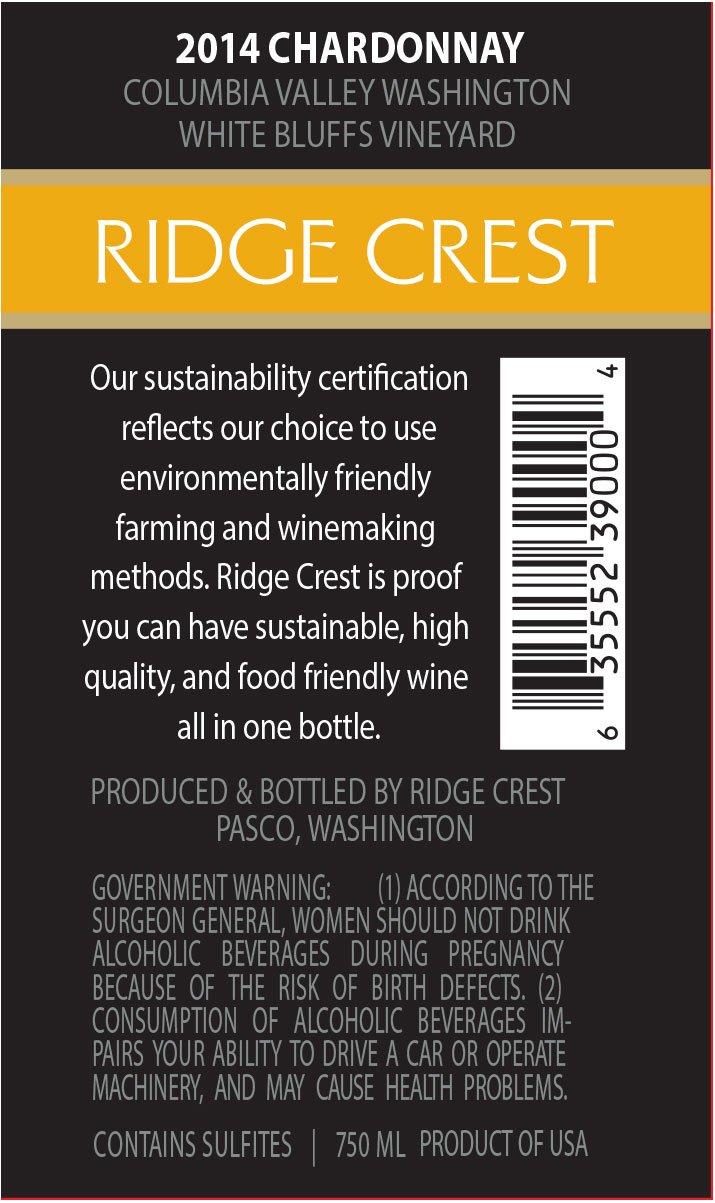 2014 ridge crest estate chardonnay washington state 750 ml at 2014 ridge crest estate chardonnay washington state 750 ml at amazons wine store xflitez Gallery