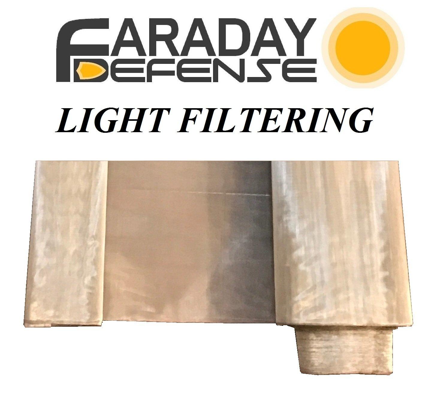 RF RFID EMF Light Filtering Fabric Mesh 50' x 1' Signal Blocking Material Faraday Defense