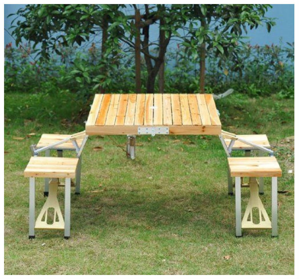 Small patio table with umbrella hole 45 quot picnic table - Outsunny