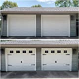 "32 Sheets 2 Car Garage Kits Household Easy Installation Magnetic Panels Fake Windows Hardware Decorative (Size 6.14"" x 4"")"