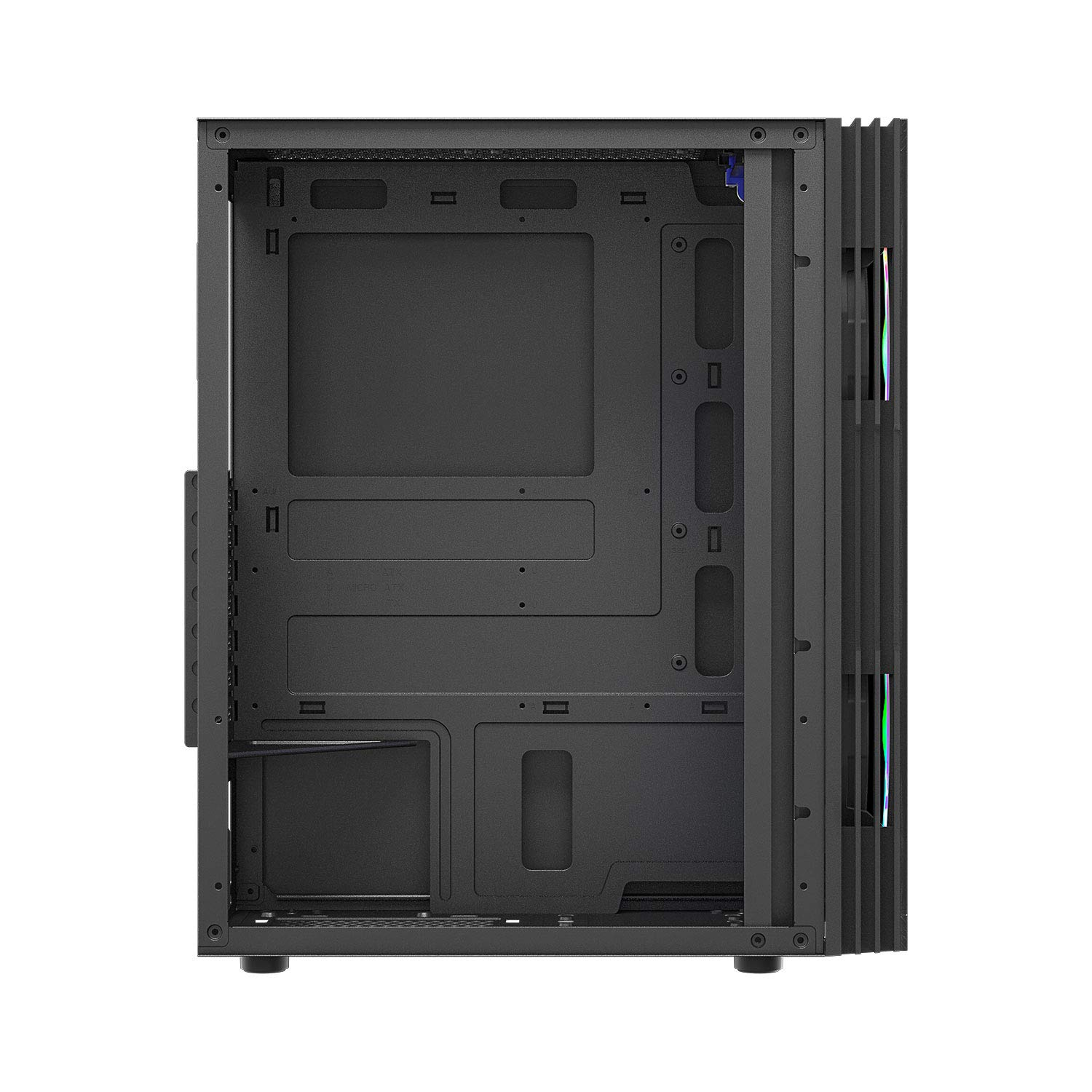 darkFlash BF1 ATX Mid Tower Gaming Temperedf Glass Computer Case with 2PCS 20 cm case Fans