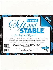 by Annie Soft and Stable Project Pack, 13-1/2 by 18-1/2-Inch, White, 4 Per Package