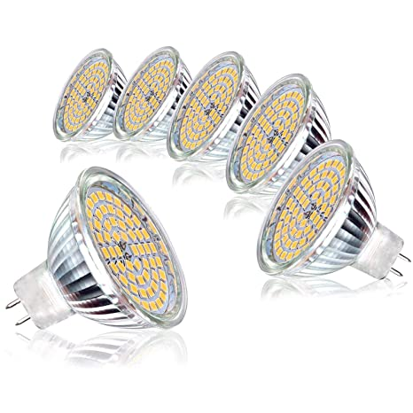 6 x MR16 5W Bombilla, Gr4tec LED Lámpara Bajo Consumo GU5.3 GX5.3 Ra ...