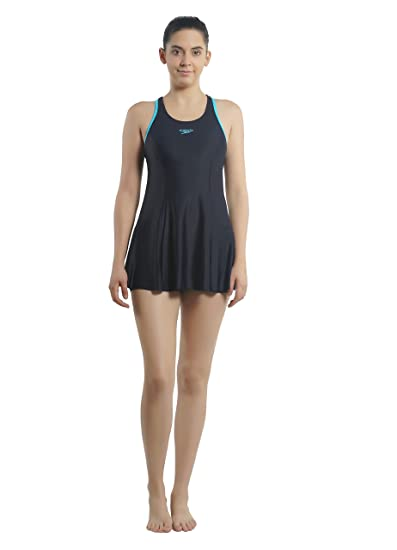 b82c7781d7d Speedo Female Swimwear Racerback Swimdress with Boyleg: Amazon.in: Sports,  Fitness & Outdoors