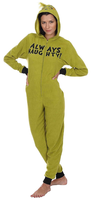 f7ce5a028 Amazon.com  Dr.Seuss Women s Grinch Hoodie Union Suit  Clothing