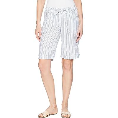 Allen Allen Womens Stripe Bermuda Shorts at Women's Clothing store
