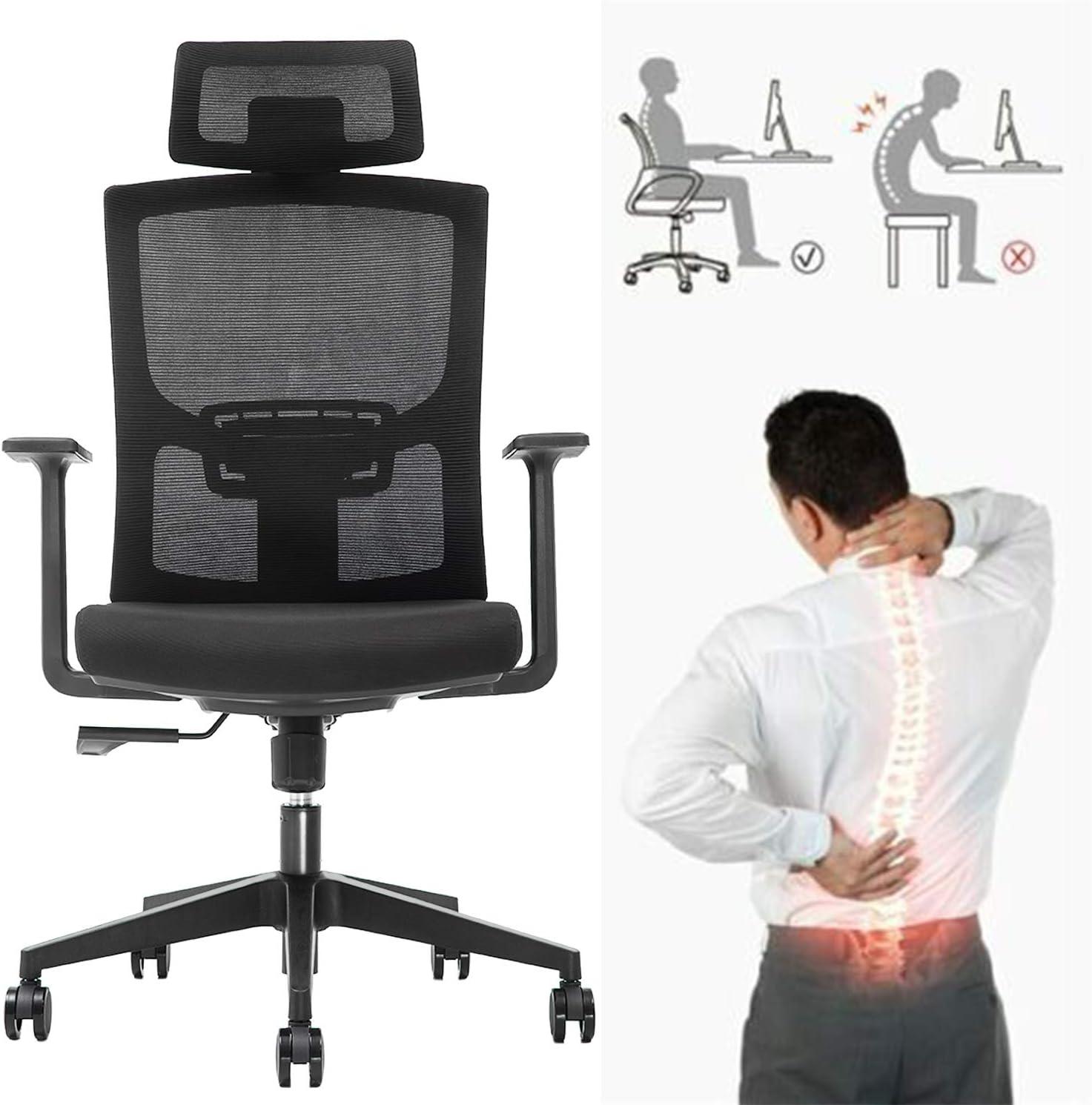 Ergonomic Adjustable Office Chair,High Back Home Desk Chair