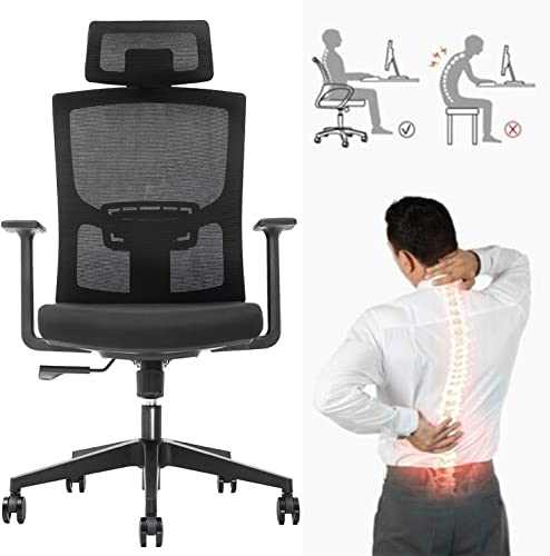 Ergonomic Adjustable Office Chair,High Back Home Desk Chair