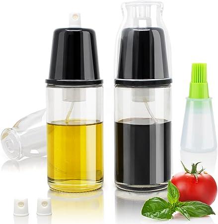 Amazy Pulverizador de aceite de oliva y vinagre (2 botes |170 ml ...