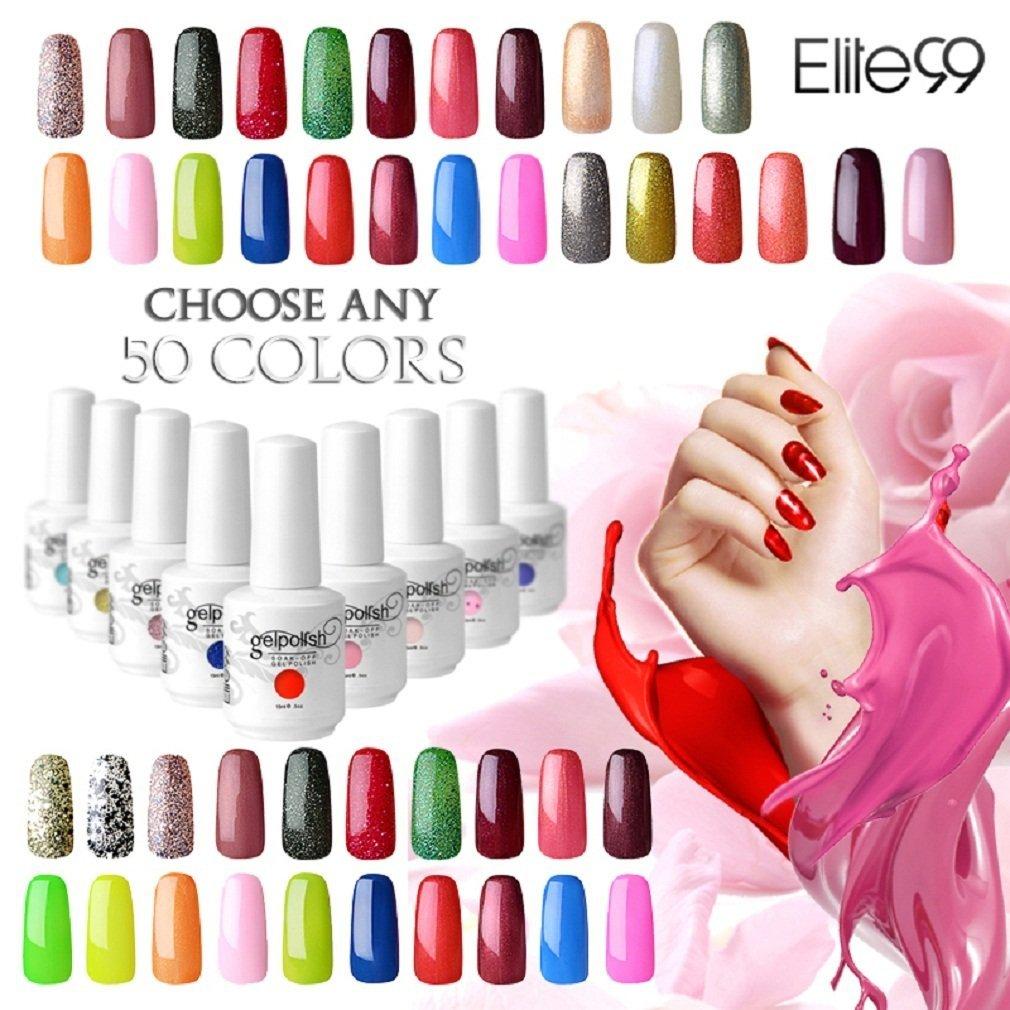 Elite99 Pick Any 50 Colors Soak Off Gel Nail Polish UV LED Color Nail Art Gift Set 241 Colors Available