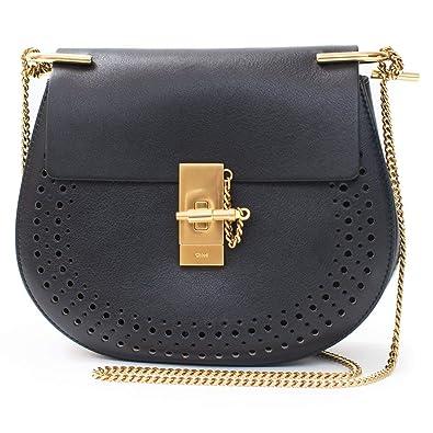 f9ab2d9d888 Chloe Black Perforated Medium Drew Italian Handbag Shoulder Bag  Handbags   Amazon.com