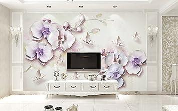 Fototapete 3d Tapete Phalaenopsis Orchideen Schmetterlings Aquarell