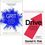 Grit Why passion and resilience are the secrets to success & Drive The Surprising Truth About What Motivates Us 2 Books…