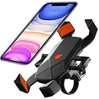 Bike Phone Mount, Motorcycle phone holder,Universal Adjustable Bicycle Cycling Handlebars for iPhone 11 Xs Max XR X 8 7 6 Plus, Samsung S10+ S9 S8, Note 10 9 8, GPS, 4-7 inches Android Cell Phone: Sports & Outdoors