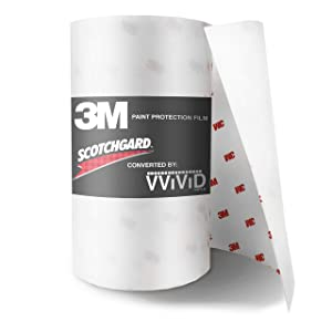 3M Clear Bra Scotchgard Paint Protection Bulk Film Roll 4-by-84-inches