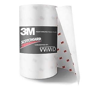 VViViD 3M Scotchgard Clear Paint Protection Vinyl Film (6 Inch x 60 Inch)