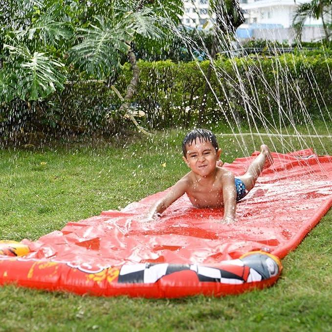 Amiispe Tobogán de Agua al Aire Libre Juguete acuático tobogán de Agua Estera de Diapositivas Adecuado para Uso al Aire Libre como jardín de césped y Patio: Amazon.es: Hogar