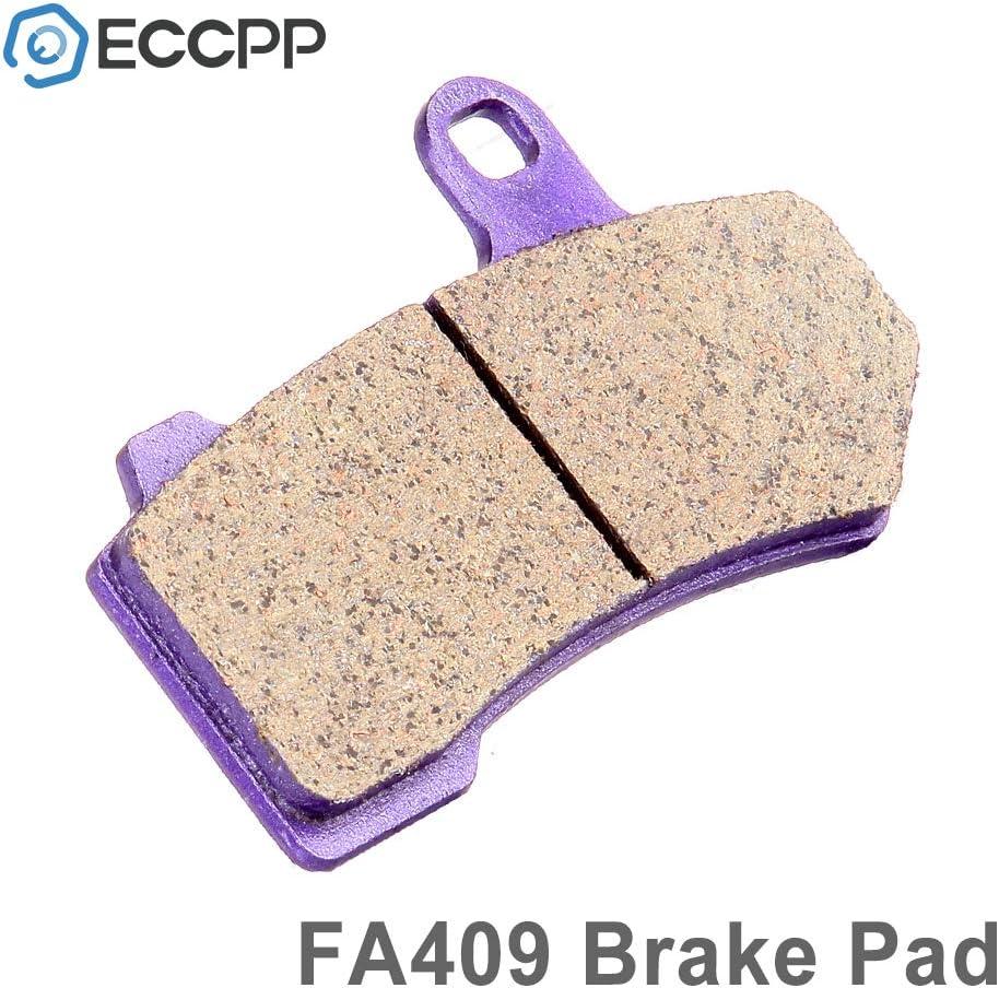 ECCPP FA409 Brake Pads Front Carbon Fiber Replacement Brake Pads Kits Fit for 2001 2005 2006 2007 2008 2009 2010 2011 2012 Harley-Davidson
