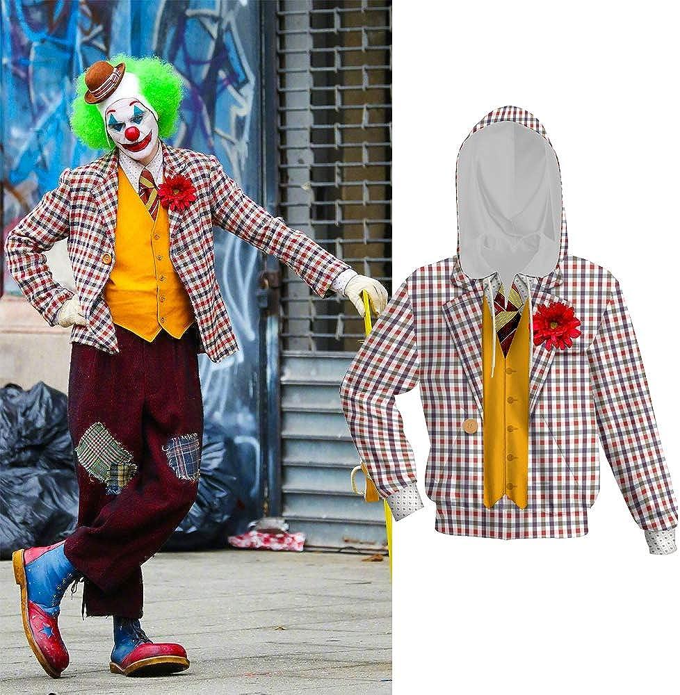 Joker Hoodie Movie Cosplay Costume Zipper Hoodie Halloween Shirt Pullover Sweater Kids Boys Girls M