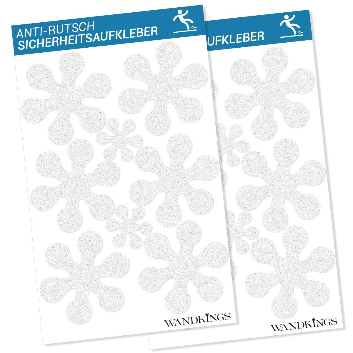 SafeBAD, Set di adesivi antiscivolo per doccia e vasca, incl. 12 fiori Ø 10 cm, 4 fiorellini Ø 5 cm SB16B
