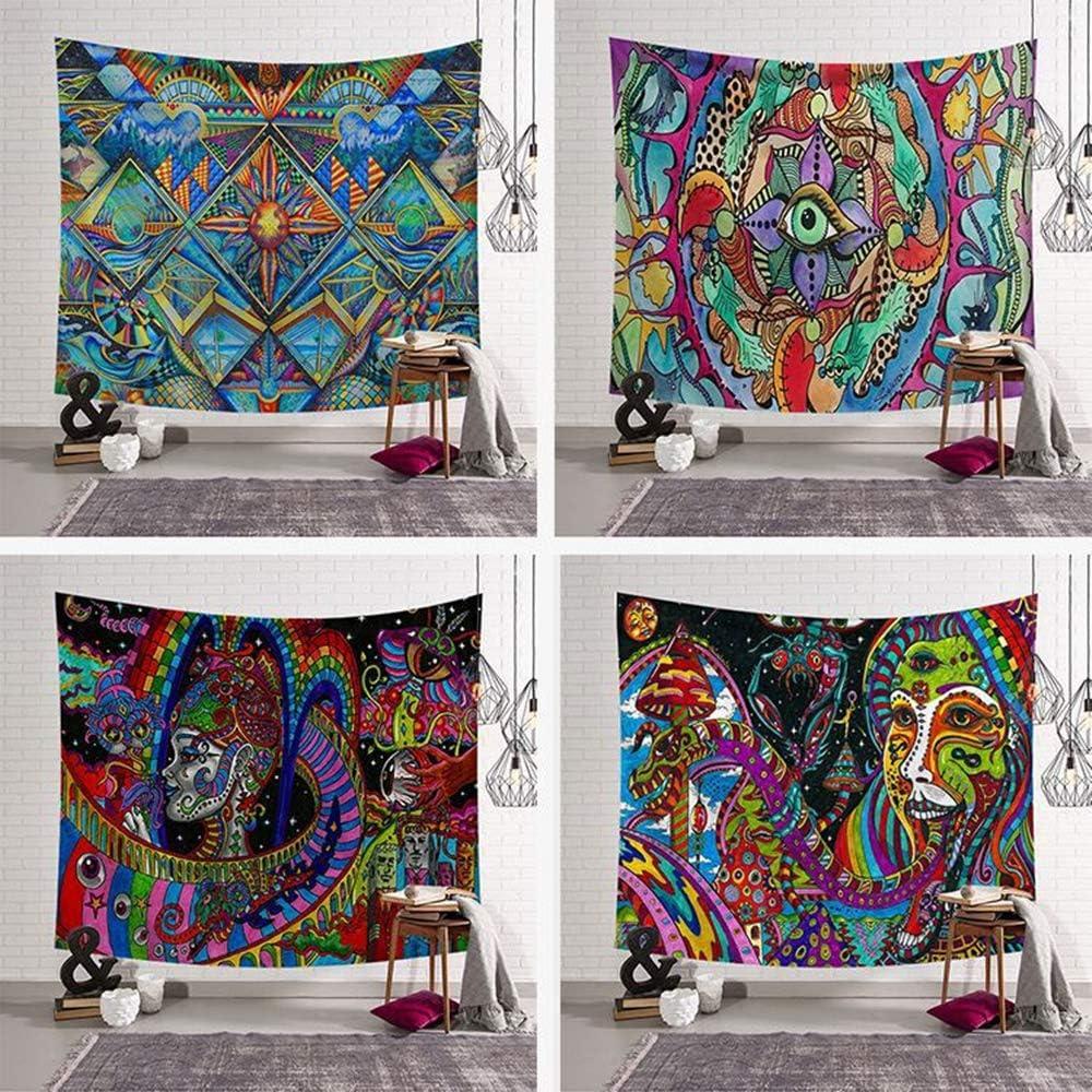 Piccolo Morbuy Arazzo da Parete Grande Dipinto , Diamante 130 x 150 cm Hippie Poliestere Stampa Home Decor tappeti da Parete Casual Picnic Telo Mare