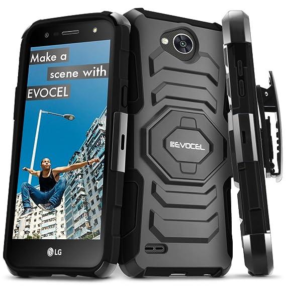 super popular 9edd0 bdf08 LG X Power 2 / LG X Charge/LG Fiesta 2 / LG Fiesta LTE Case, Evocel [New  Generation Series] Belt Clip Holster, Kickstand, Dual Layer for LG Fiesta  LTE ...