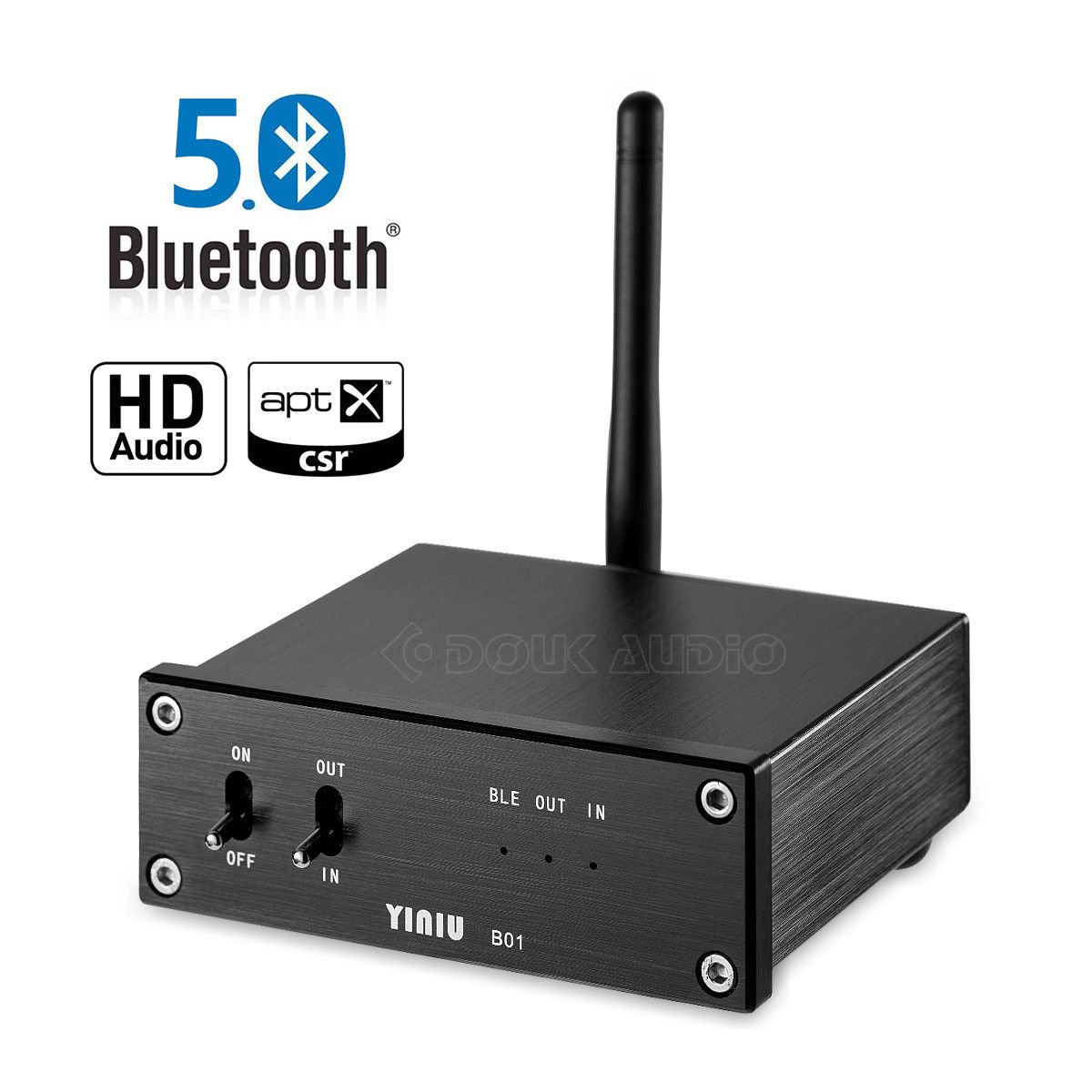 Nobsound Bluetooth 5.0 APTX-HD Lossless Audio Receiver HiFi Decoder DAC COAX/OPT Digital to Analog Converter Home/Car Audio (Bluetooth 5.0) by Douk Audio