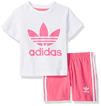 Amazon.com  adidas Originals Baby Girls Originals Short   Tee Set  Clothing 053edf0bc167
