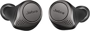 Jabra Elite 75t Earbuds – True Wireless Earbuds with Charging Case, Titanium Black – Active Noise Cancelling Bluetooth Earbuds with a Comfortable, Secure Fit, Long Battery Life, Great Sound