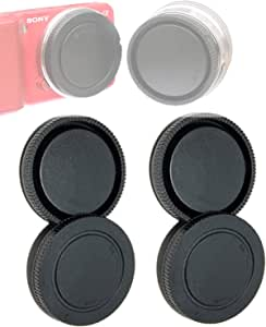(2 Packs) E Mount Rear Back Lens Cap Body Cap, Sony EMount Camera Lens Cover Body Cap, FE Lens Cap fits NEX5T NEX-6 NEX-7 a6500 a6400 a6300 a6000 a5100 a5000 a3500 a3000 A7 A7R A7S II III A9