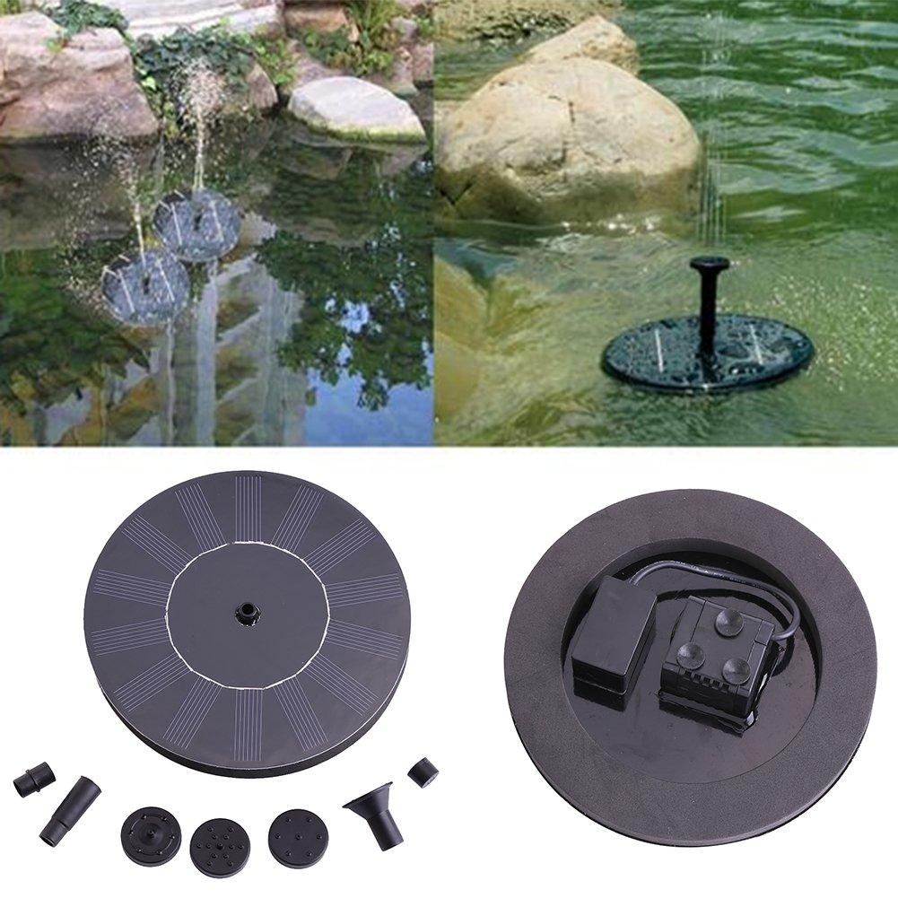 eecoo Solar Pool Fountain Pump, 1.4w Portable Submersible Free Standing Solar Water Pump Outdoor Fountain for Bird Bath Small Pond, Patio Garden