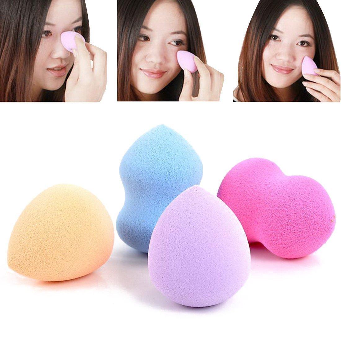 BeautyLife 4pc Pro Beauty Flawless Makeup Blender Foundation Puff Multi Shape Sponges Color by Random FMISSACGHJH564