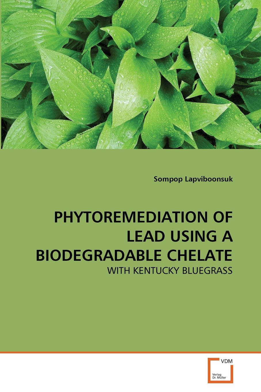 PHYTOREMEDIATION OF LEAD USING A BIODEGRADABLE CHELATE: Amazon.es ...