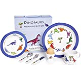 7 Piece Children's Melamine Gift Set - DINOSAURS